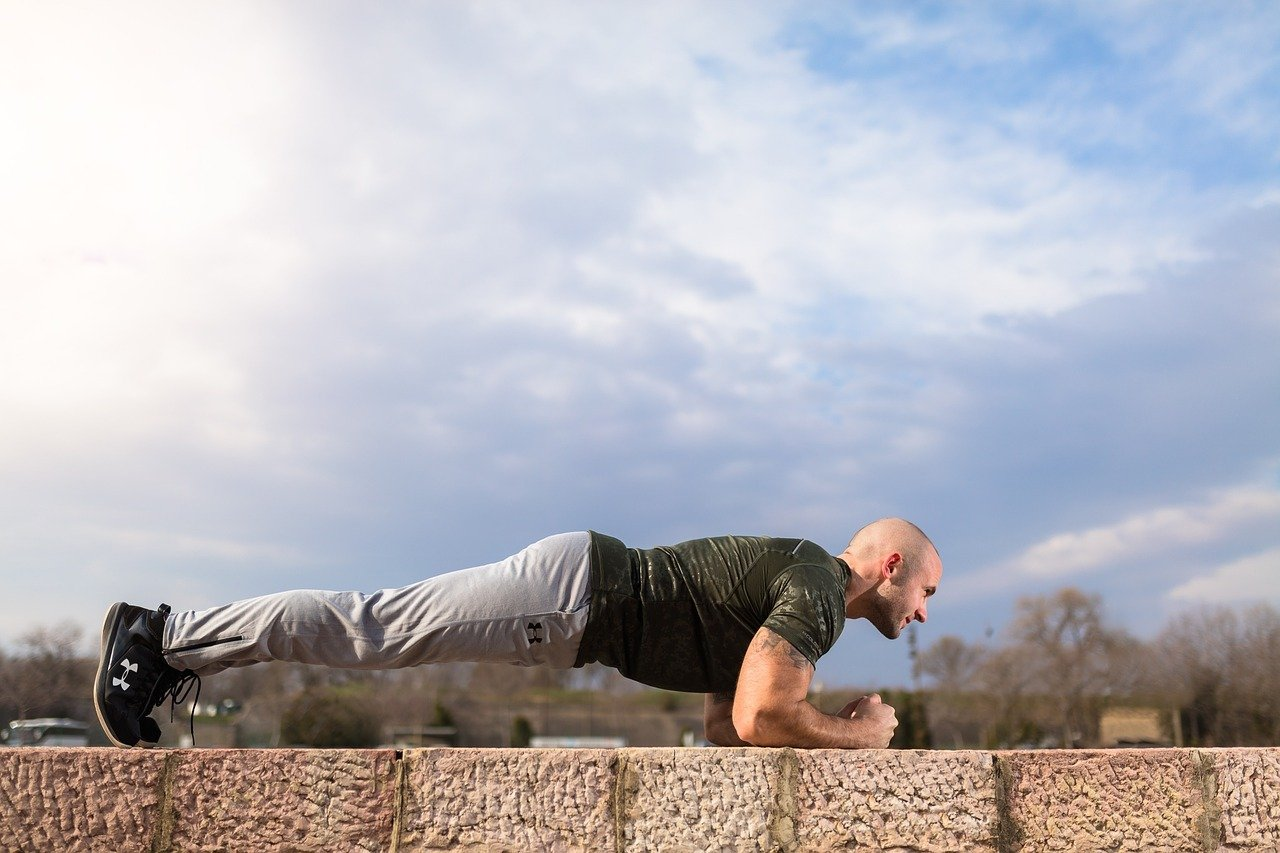 Man doing the plank