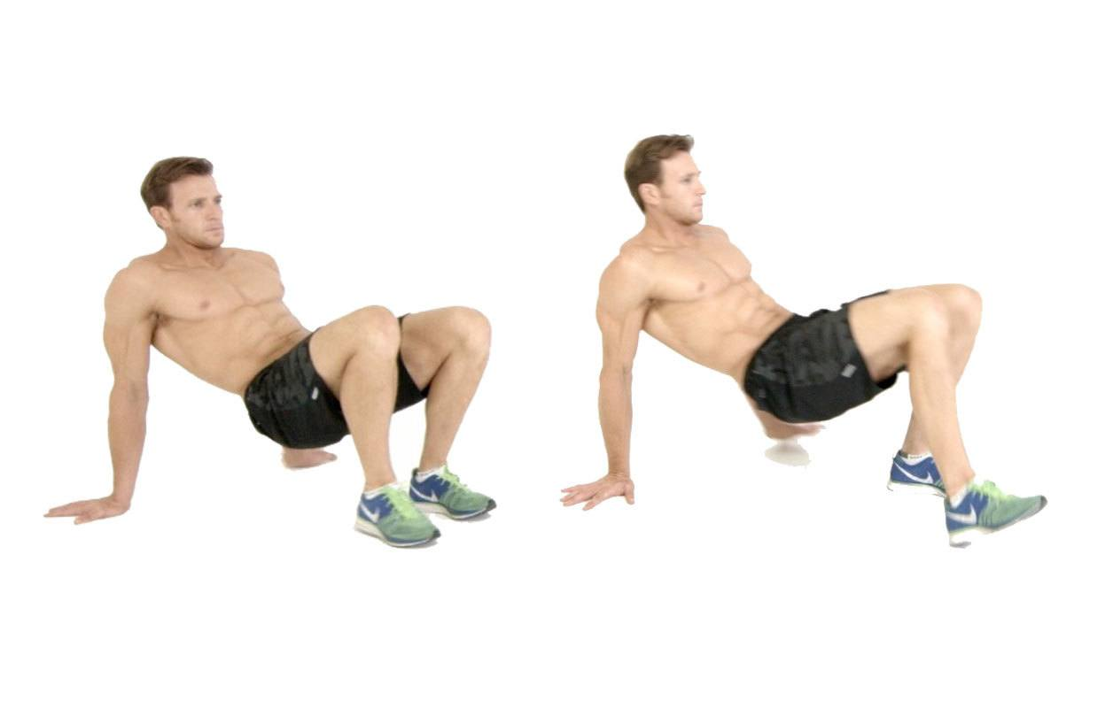 Athlete doing the crab walks exercise