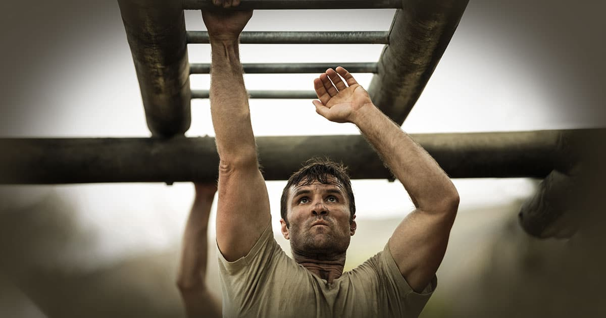 Picture showing a military calisthenics workout circuit