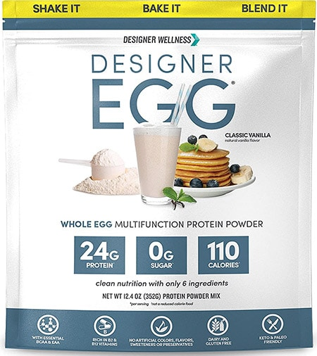 Protein powder from whole eggs by Designer Protein