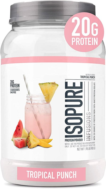 Tub of light protein from Isopure